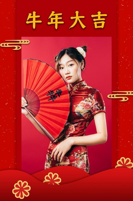 2021 chinese new year004 2021旗袍新年照