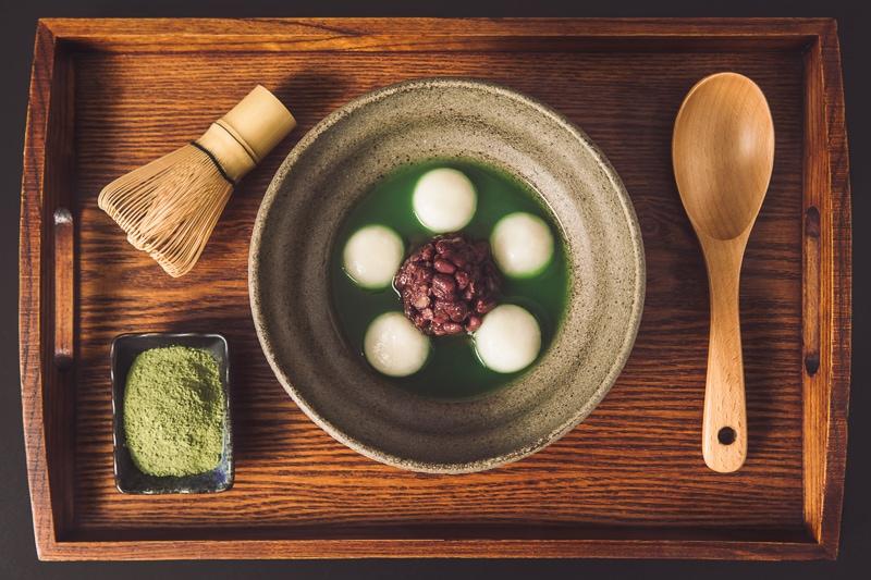 Matcha glutinous rice balls 1 商業攝影-抹茶湯圓