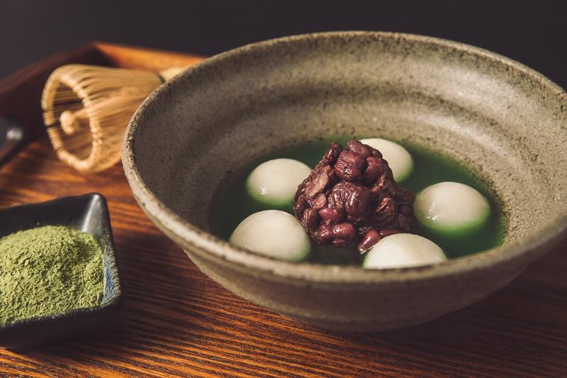 Matcha glutinous rice balls 2 商業攝影-抹茶湯圓