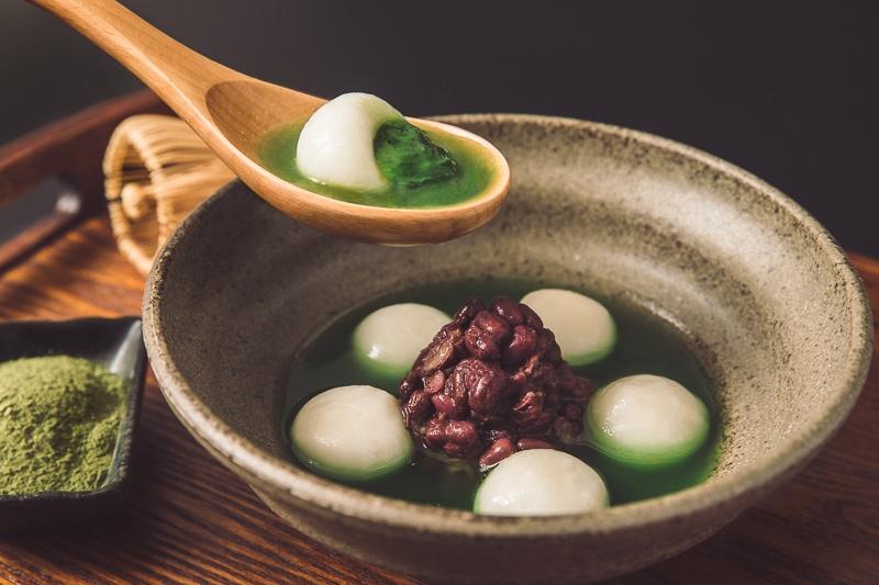 Matcha glutinous rice balls 3 商業攝影-抹茶湯圓