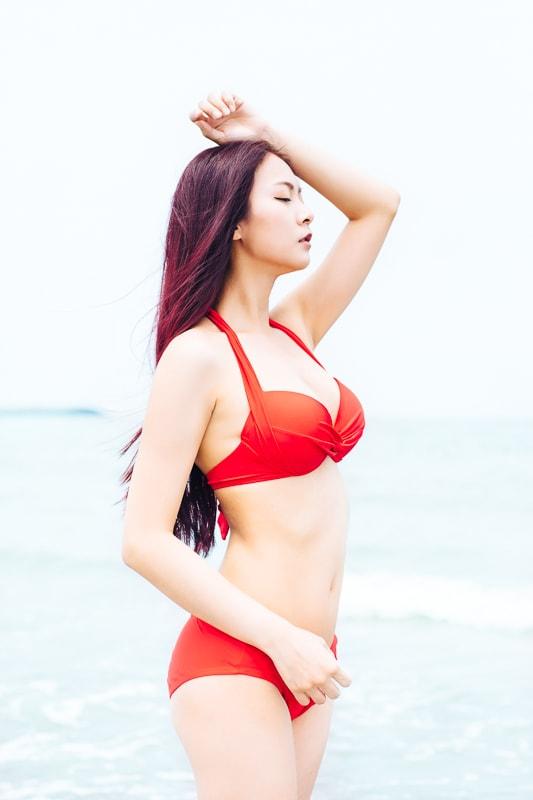 Sexy Beach Bikini Girl 1 人像寫真-汗光演習