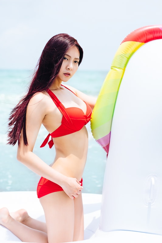 Sexy Beach Bikini Girl 10 人像寫真-汗光演習