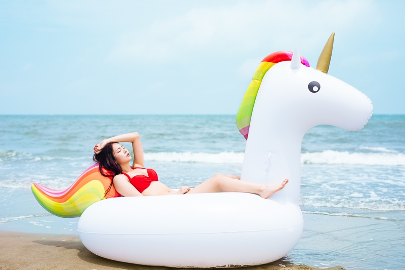 Sexy Beach Bikini Girl 7 人像寫真-汗光演習