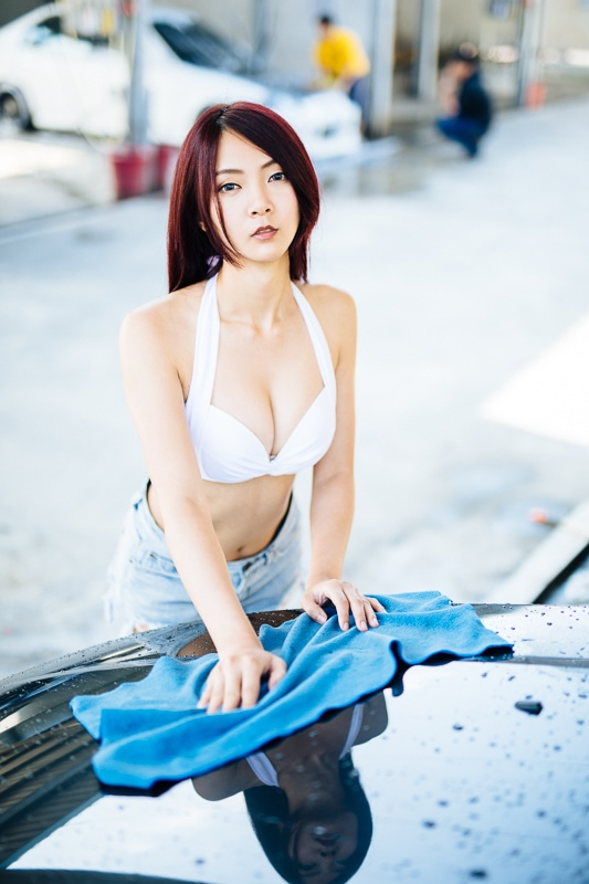 car wash bikini 11 人像寫真-洗車場店員