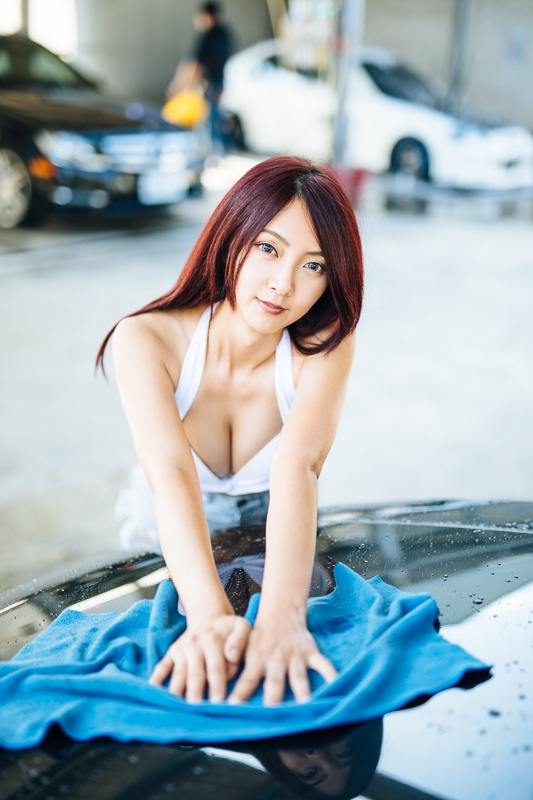 car wash bikini 12 人像寫真-洗車場店員