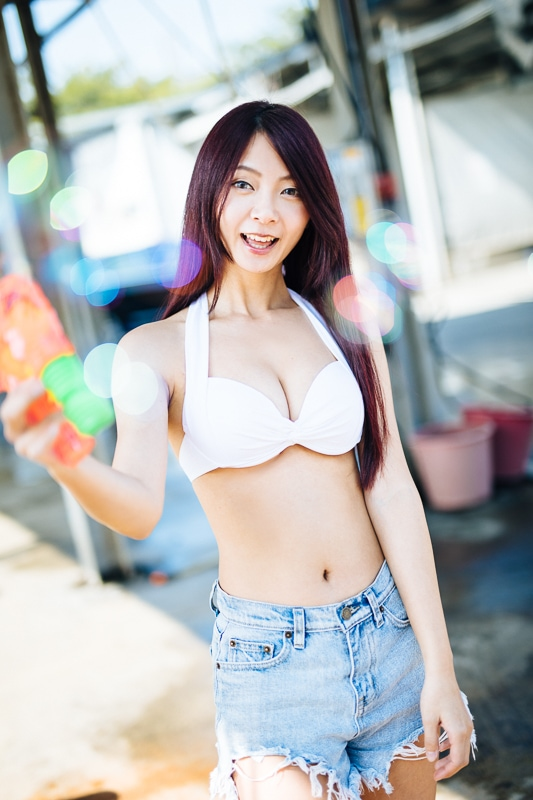 car wash bikini 2 人像寫真-洗車場店員