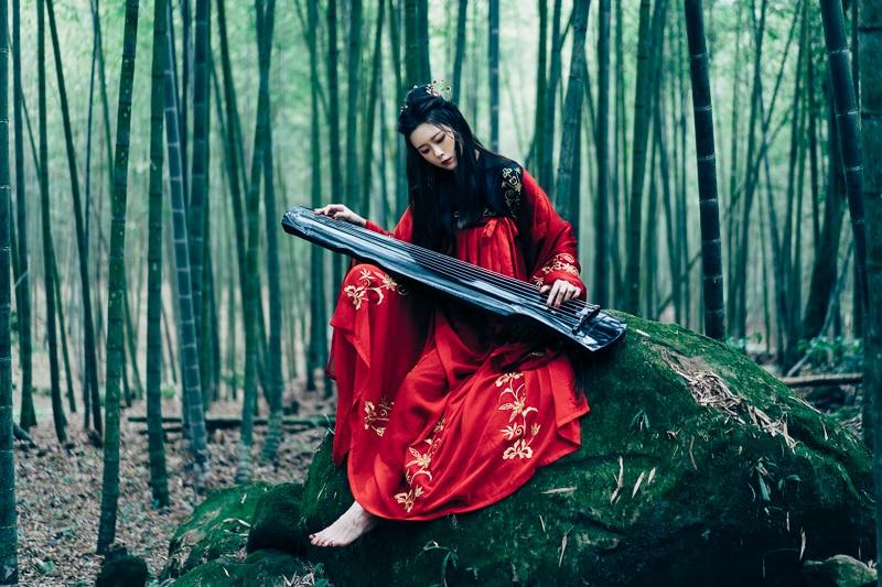 chinese traditional dress001 竹林漢服古裝莊子鈴