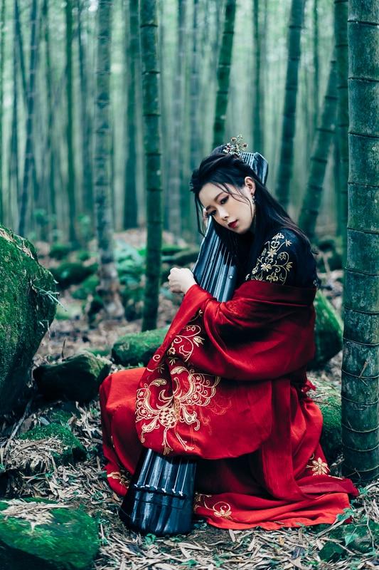 chinese traditional dress008 竹林漢服古裝莊子鈴