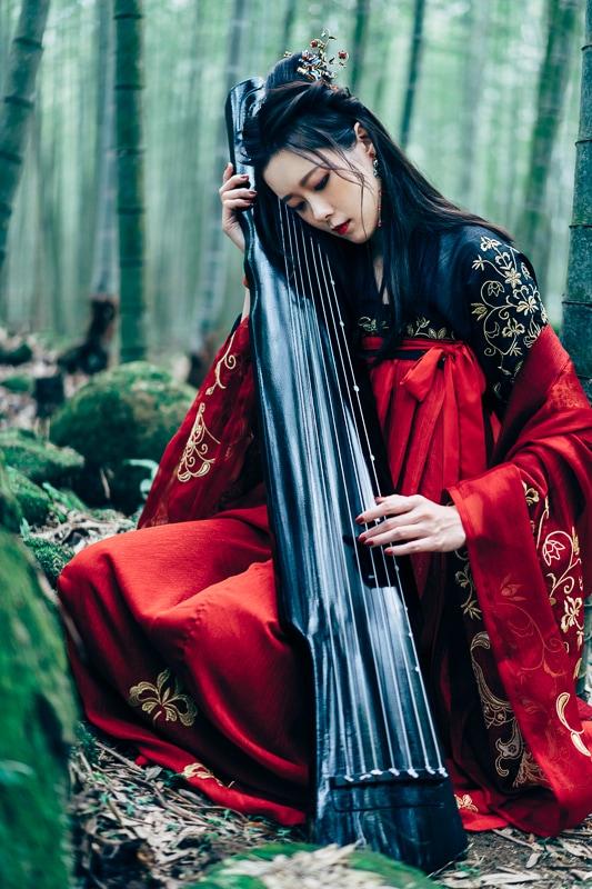chinese traditional dress010 竹林漢服古裝莊子鈴