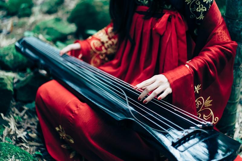 chinese traditional dress012 竹林漢服古裝莊子鈴