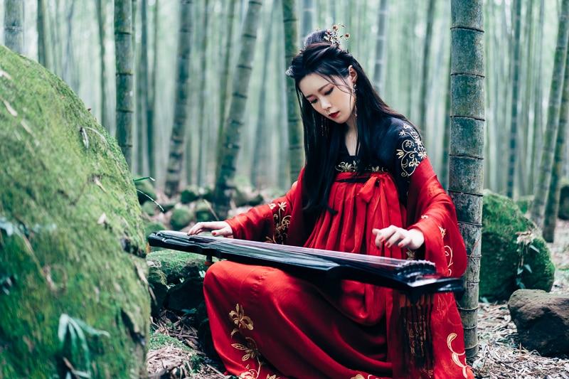 chinese traditional dress013 竹林漢服古裝莊子鈴