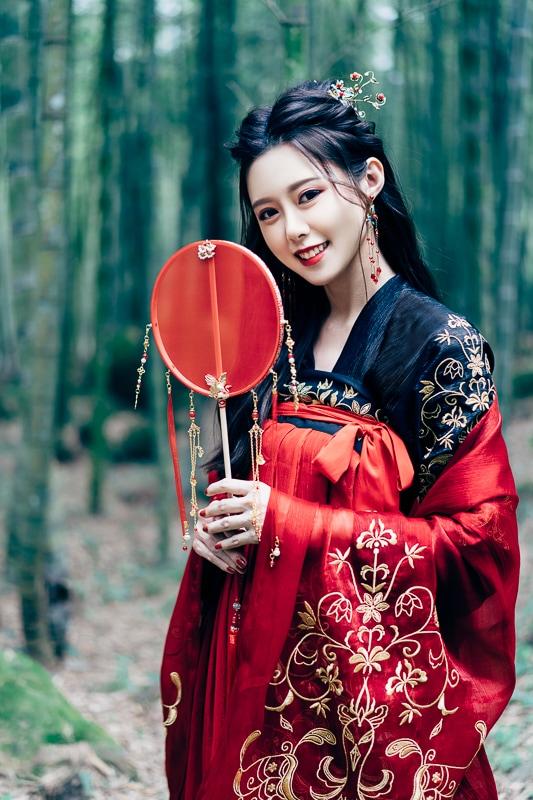 chinese traditional dress014 竹林漢服古裝莊子鈴