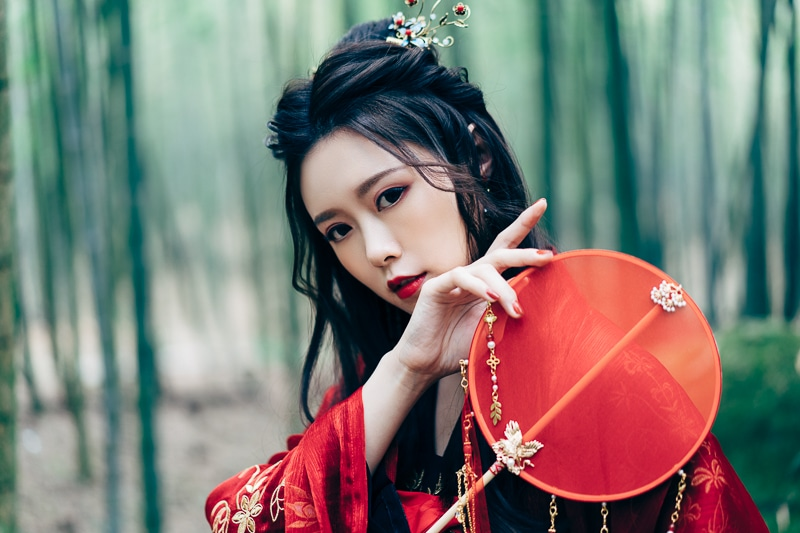 chinese traditional dress016 竹林漢服古裝莊子鈴
