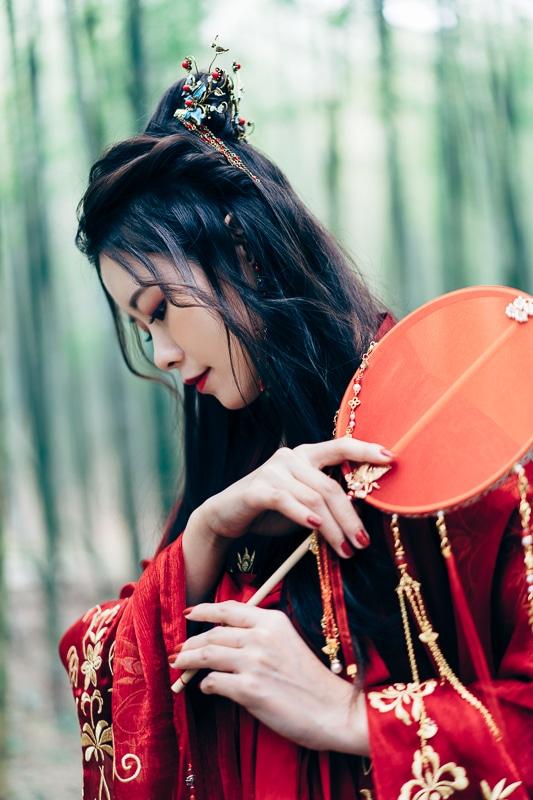 chinese traditional dress017 竹林漢服古裝莊子鈴