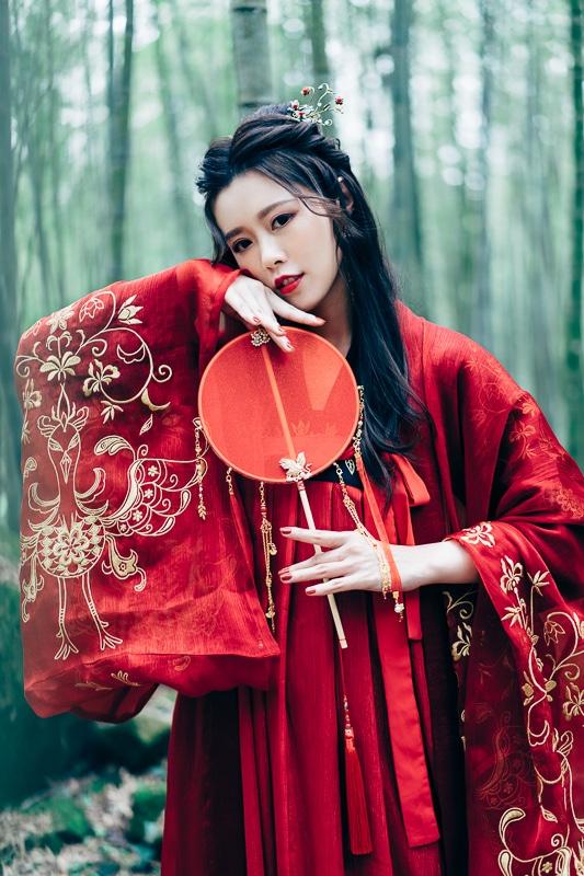chinese traditional dress018 竹林漢服古裝莊子鈴