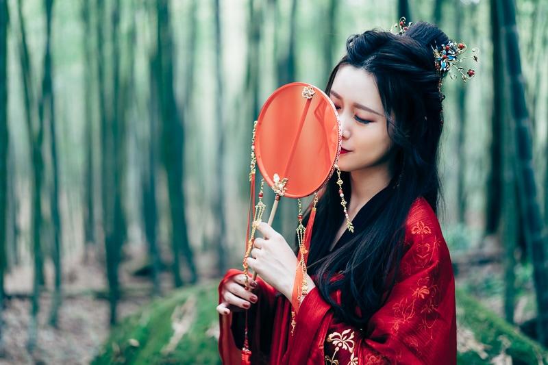 chinese traditional dress020 竹林漢服古裝莊子鈴