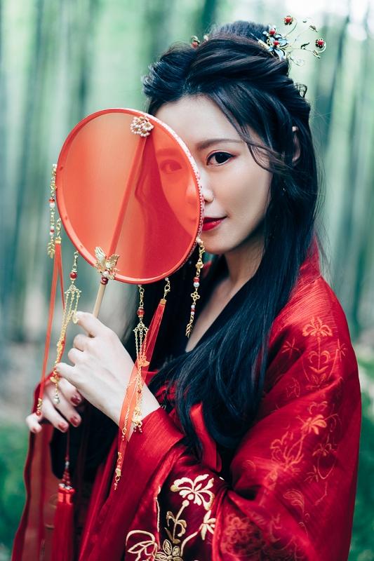 chinese traditional dress021 竹林漢服古裝莊子鈴