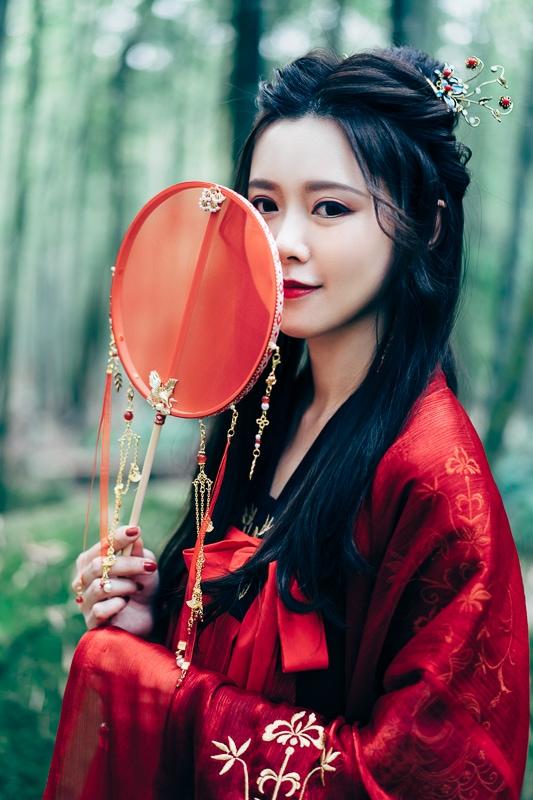 chinese traditional dress023 竹林漢服古裝莊子鈴