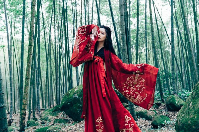 chinese traditional dress027 竹林漢服古裝莊子鈴