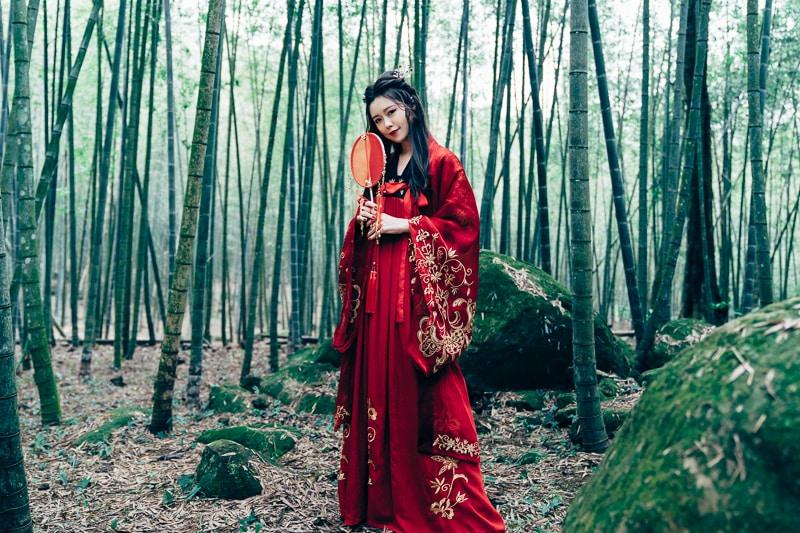 chinese traditional dress033 竹林漢服古裝莊子鈴