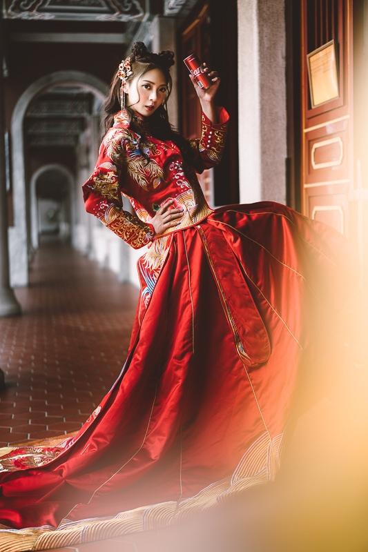 chinese wedding dress001 漢元素中國風龍鳳掛