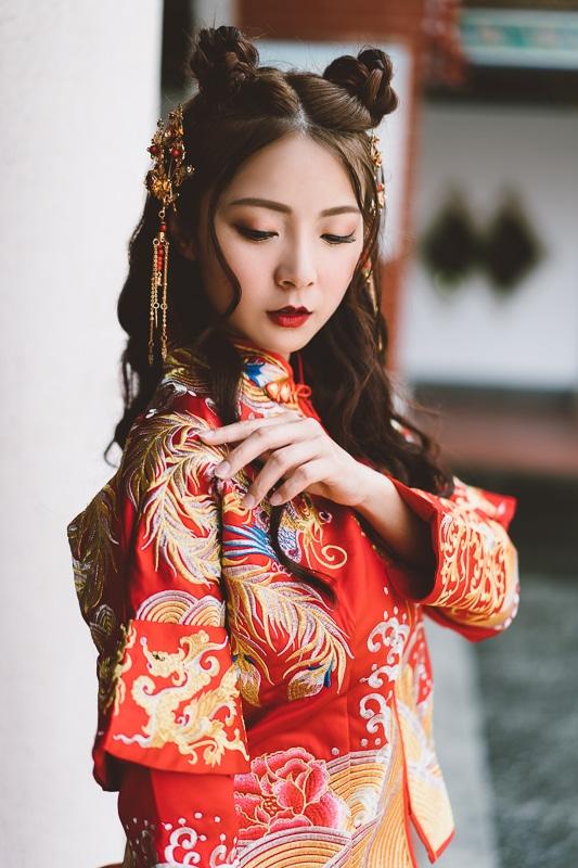 chinese wedding dress002 漢元素中國風龍鳳掛