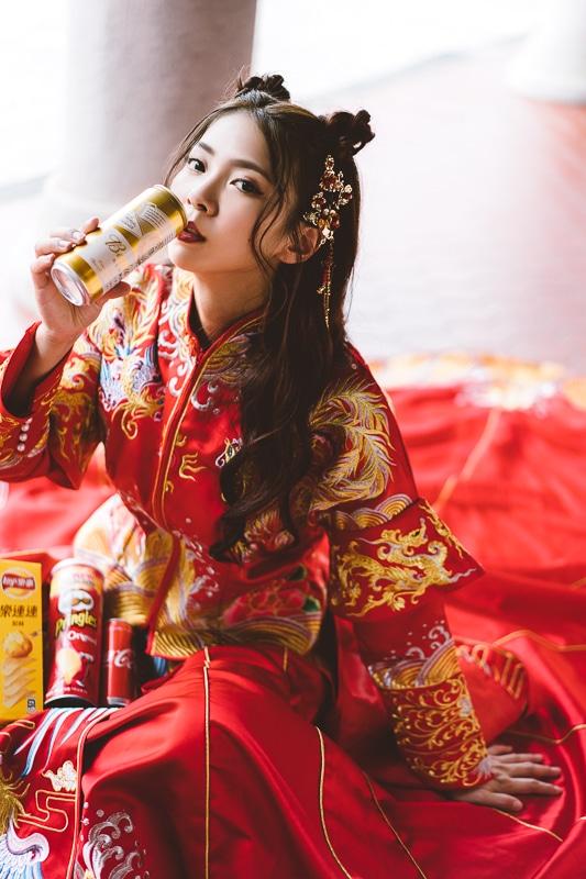 chinese wedding dress003 漢元素中國風龍鳳掛