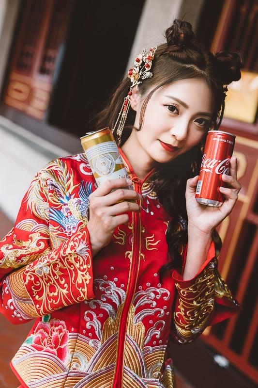 chinese wedding dress004 漢元素中國風龍鳳掛
