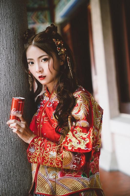 chinese wedding dress007 漢元素中國風龍鳳掛