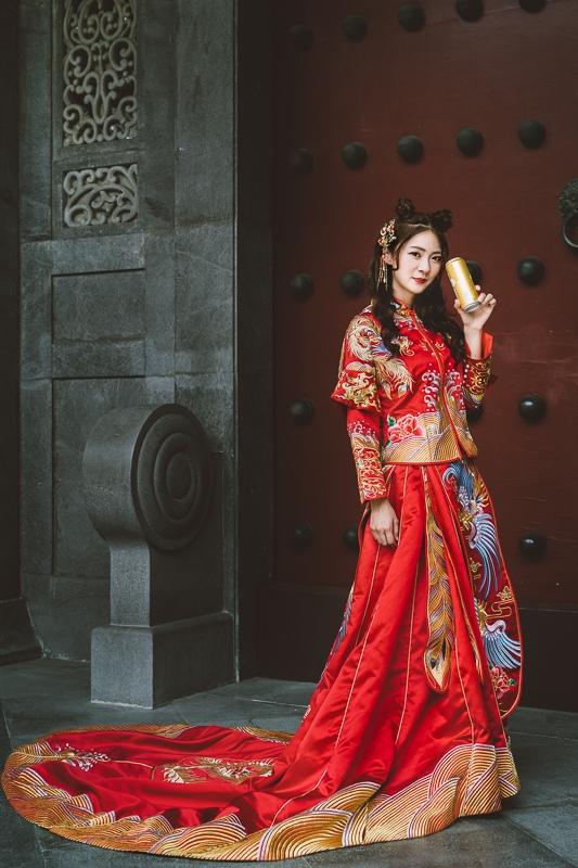 chinese wedding dress010 漢元素中國風龍鳳掛