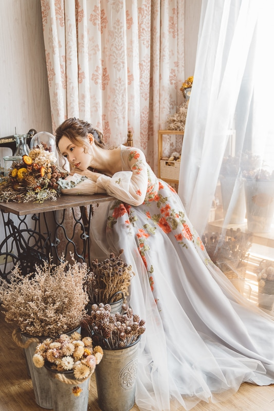 vintage flower wedding bridal 11 婚紗寫真-春芬