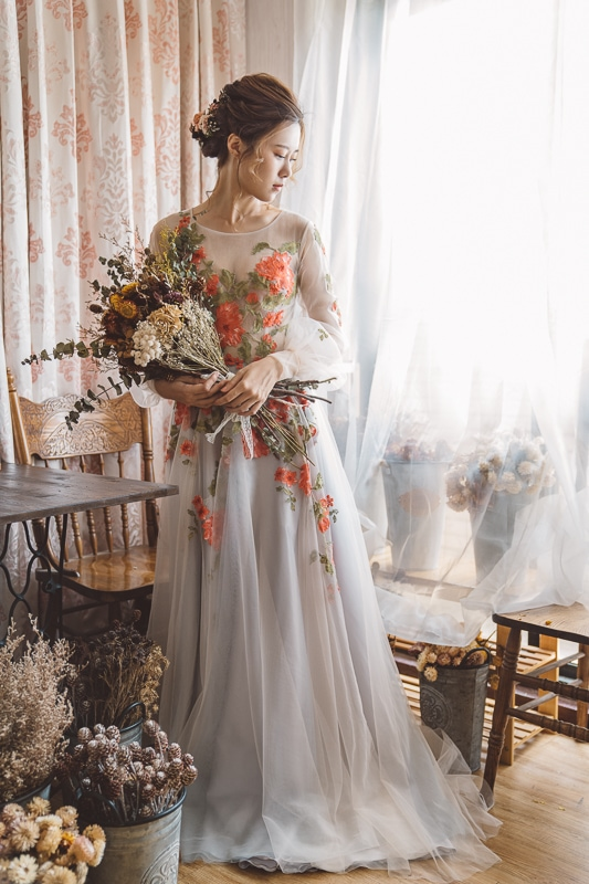 vintage flower wedding bridal 3 婚紗寫真-春芬