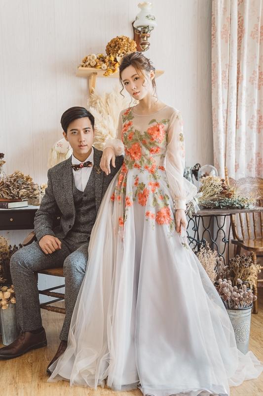 vintage flower wedding bridal 7 婚紗寫真-春芬