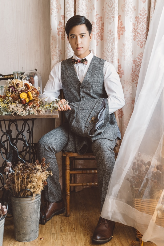 vintage flower wedding bridal 9 婚紗寫真-春芬